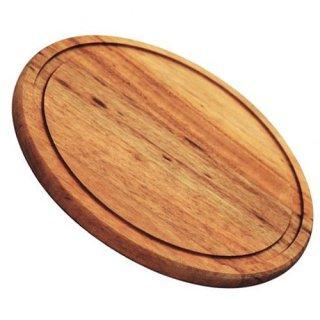 木製 ラウンド カッティングボード 直径23cm BARBECUE