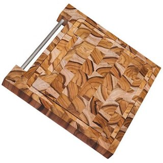 木製 エンドグレインカッティングボード 30cm×30cm BARBECUE