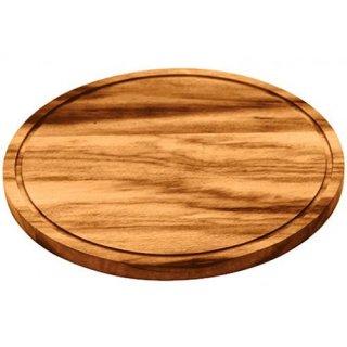 木製 ラウンド カッティングボード 直径26cm BARBECUE