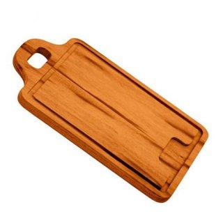 木製 カッティングボード 29cm(34cm)×23cm BARBECUE