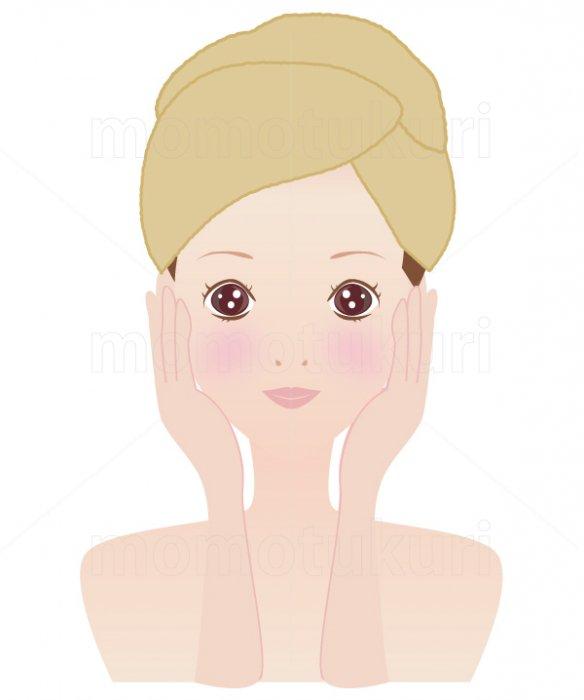 美容-スキンケア 肌  美肌 洗顔 スキンケア  タオルを巻いた女性 4