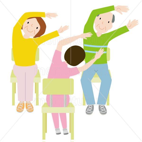 介護  女性介護士    リハビリ(健康体操、ストレッチ、トレーニング) 体操 健康 高齢者 おばあさん  おじいさん 2