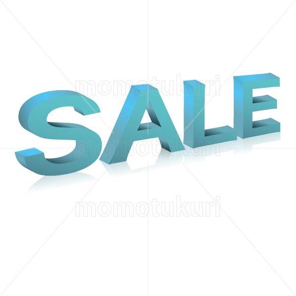 SALE sale セール  立体 3D  水色 青 ブルー