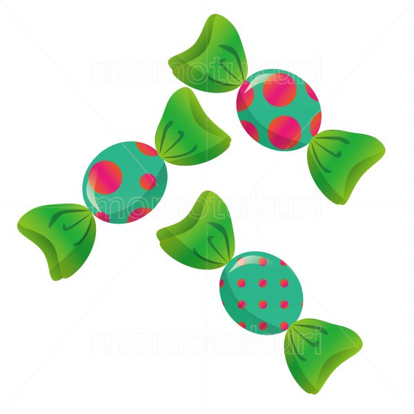 お菓子 包み キャンディ  3個   水玉模様 赤 ピンク 緑 黄緑 2