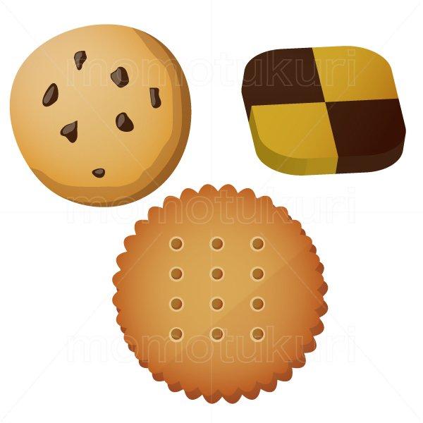 クッキー  3個   (格子柄・市松模様 ビスケット チョコ)
