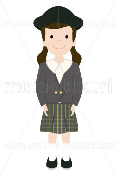 制服を着た幼稚園の女の子 2