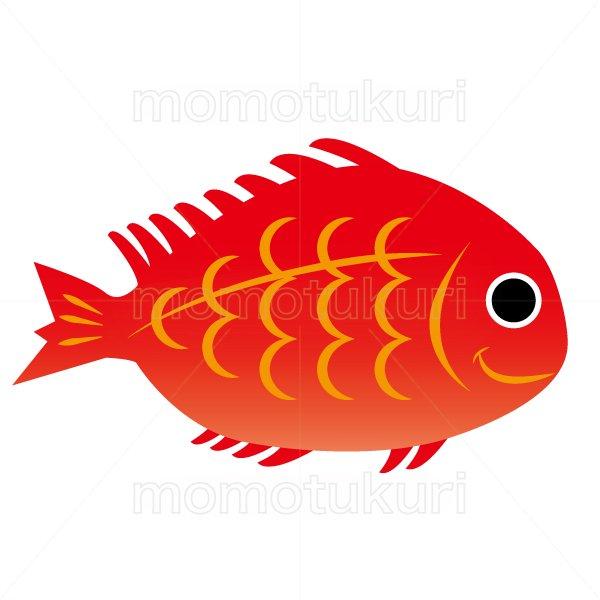 魚のタイ(鯛)のイラスト