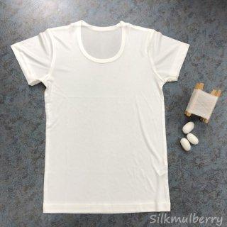 シルク丸首半袖シャツ(子供用・男女兼用)