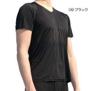 シルクファインタッチ紳士V首半袖シャツ