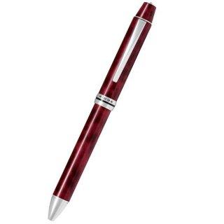 パイロット 複合筆記具(ボールペン黒0.7mm・赤・青・緑・シャープ0.5mm)フォープラスワンリッジ ブラック&レッド BTHRF1MR−BR