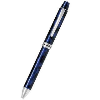 パイロット 複合筆記具(ボールペン黒0.7mm・赤・青・緑・シャープ0.5mm)フォープラスワンリッジ ブラック&ブルー BTHRF1MR−BL