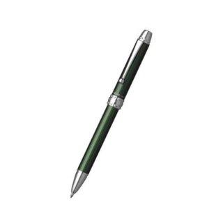 プラチナ万年筆 複合筆記具(ボールペン黒・赤・青・シャープ0.5mm)ダブル4アクション グリーン MWB−3000F