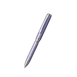 プラチナ万年筆 複合筆記具(ボールペン黒・赤・シャープ0.5mm)ダブル3アクション ポケット ミストパープル MWBP−3000