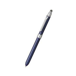 プラチナ万年筆 複合筆記具(ボールペン黒・赤・青)ダブルアクション C3 センシー スマートペン ブルー BWBT−2000