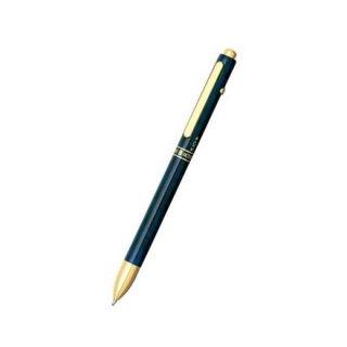 プラチナ万年筆 複合筆記具(ボールペン黒・赤・シャープ0.5mm)ダブル3アクション ブルーマーブル MWB−2000C