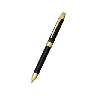 プラチナ万年筆 複合筆記具(ボールペン黒・赤・シャープ0.5mm)ダブルアクション R3 ブラック MWB−1500RA