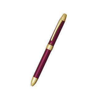 プラチナ万年筆 複合筆記具(ボールペン黒・赤・シャープ0.5mm)ダブルアクション R3 ワインレッド MWB−1500RA