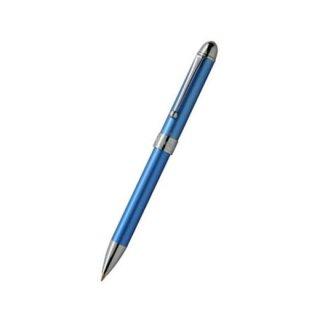 プラチナ万年筆 複合筆記具(ボールペン黒・赤・シャープ0.5mm)ダブル3アクション フロスティブルー MWB−1000C
