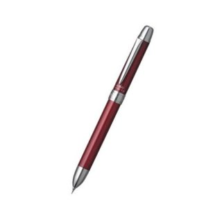 プラチナ万年筆 複合筆記具(ボールペン黒・赤・シャープ0.5mm)ダブルアクション R3 SARABO(サラボ) ルージュレッド MWB−1000G