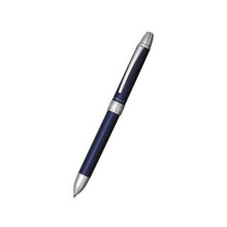 プラチナ万年筆 複合筆記具(ボールペン黒・赤・シャープ0.5mm)ダブルアクション R3 ブルー MWB−1000RA