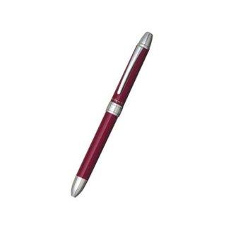 プラチナ万年筆 複合筆記具(ボールペン黒・赤・シャープ0.5mm)ダブルアクション R3 ワインレッド MWB−1000RA