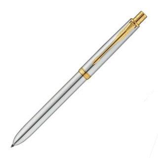 パーカー 複合筆記具(ボールペン黒F・赤・シャープ0.5mm)ソネット オリジナル マルチファンクション ステンレススチールGT S111306620