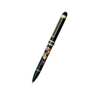 プラチナ万年筆 複合筆記具(ボールペン黒・赤・シャープ0.5mm)ダブルアクション R3 近代蒔絵 ウメニウグイス MWB−5000RM