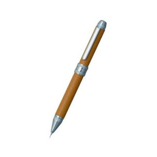 プラチナ万年筆 複合筆記具(ボールペン黒・赤・シャープ0.5mm)ダブル3アクション 牛本革巻き バスケットパターン ベージュ MWBL−5000T