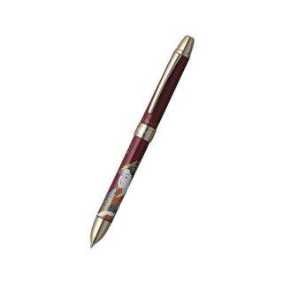 プラチナ万年筆 複合筆記具(ボールペン黒・赤・シャープ0.5mm)ダブルアクション R3 近代蒔絵 ウタマロ MWB−3000RM