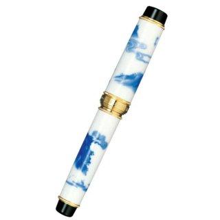 セーラー万年筆 万年筆 有田焼 香蘭社 染山水(そめさんすい) 10−1581−400