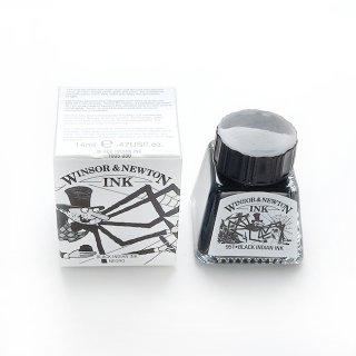 ウィンザー&ニュートン ドローイングインク 14ml  030 ブラック インディアンインク