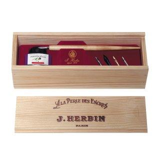 エルバン ナチュラルウッドコフレ (木製ペン+ペン先5本+ヴィオレパンセ30ml) 27077