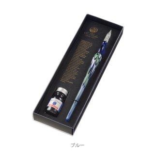 エルバン ガラスペンマーブル&ミニインクセット (マーブルブルー&サファイアブルー) 21312