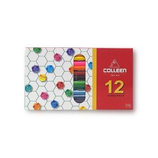 コーリン鉛筆 色えんぴつ 775六角 12色セット 775-12
