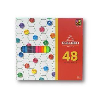 コーリン鉛筆 色えんぴつ 775六角 48色セット 775-48