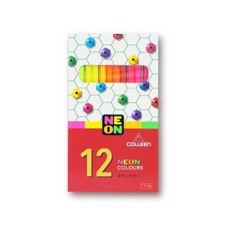コーリン鉛筆 色えんぴつ 775六角ネオンカラー 12色セット 775N-12