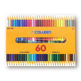 コーリン鉛筆 色えんぴつ 785バイカラー 30本60色セット 785-30/60