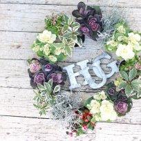 HUG garden 寄せ植え『ハボタンリース』苗set