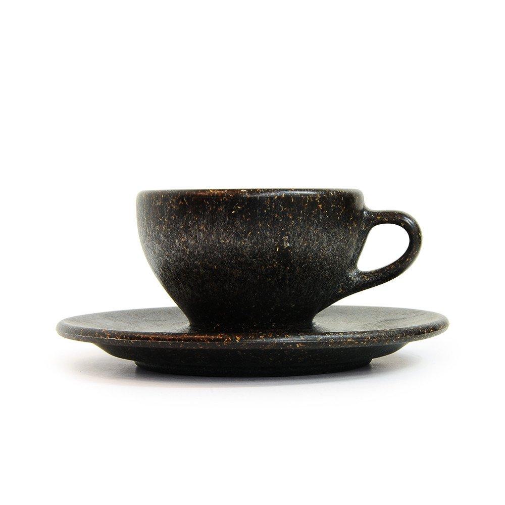 【KAFFEEFORM : カフェフォルム】 『コーヒー抽出かす』cup & saucer espresso