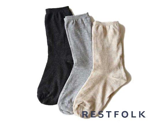 【 RESTFOLK 】 Double SILK Socks Basic ( 3color )