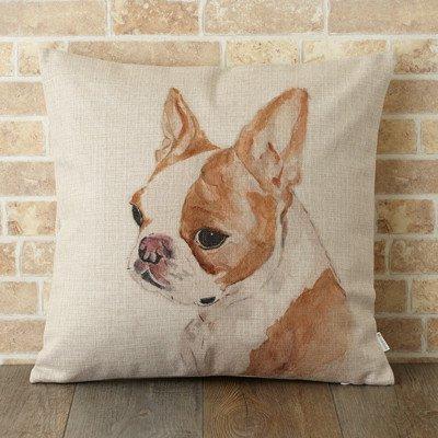 【 Jubilee London 】Cushion -Brown French Bulldog-