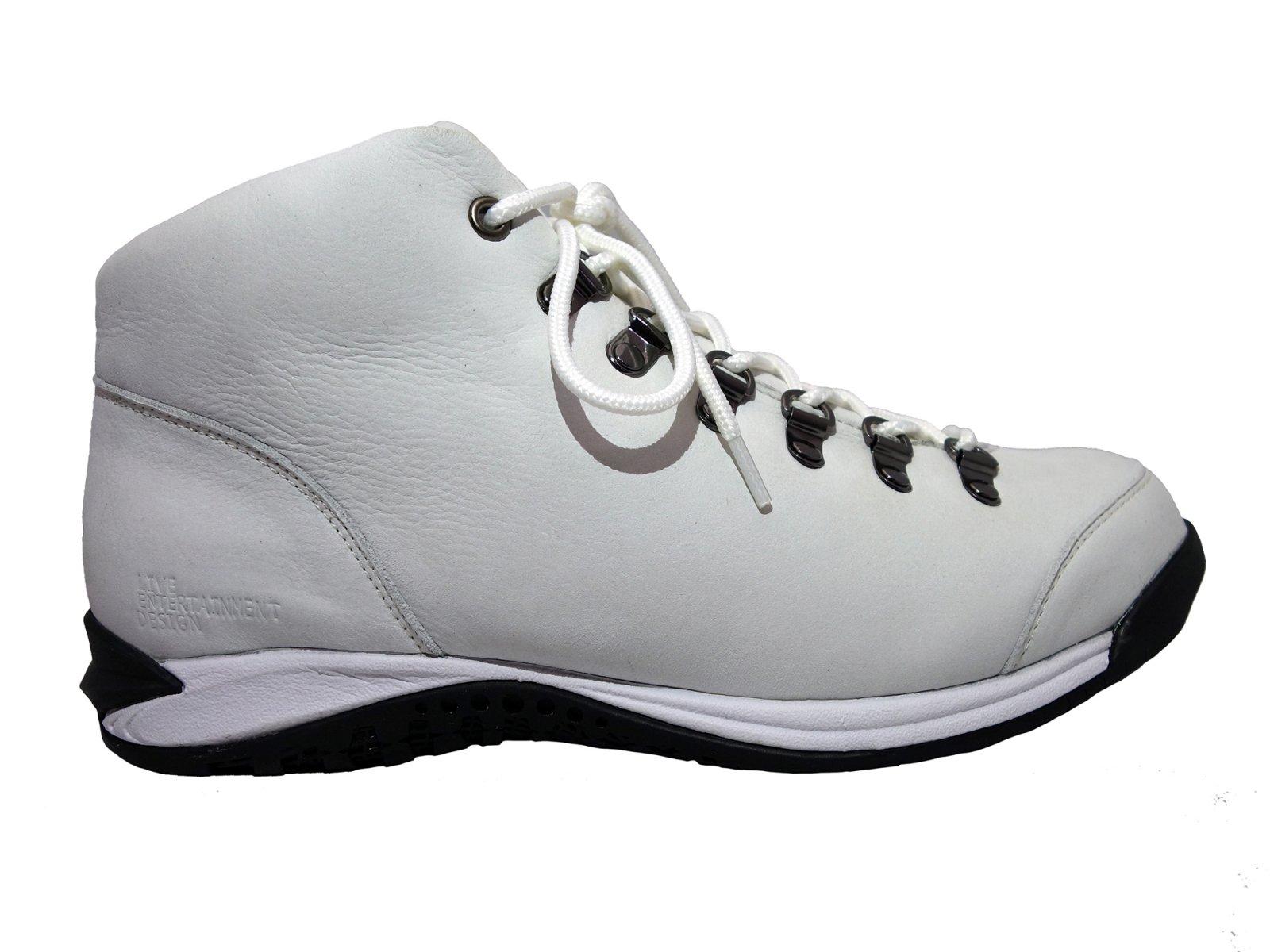 【LIVE ENTERTAINMENT DESIGN】Vibram sneaker boots  (Shrink nubuck leather White)