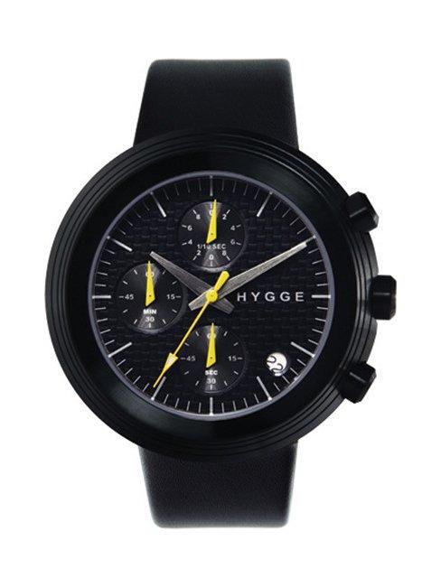【HYGGE】MSL2312 Leather/Black dial Black case (Black)