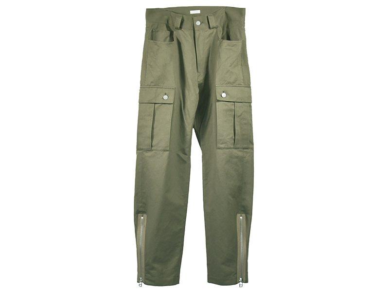 【BENINE】Cotton linen Military Pants