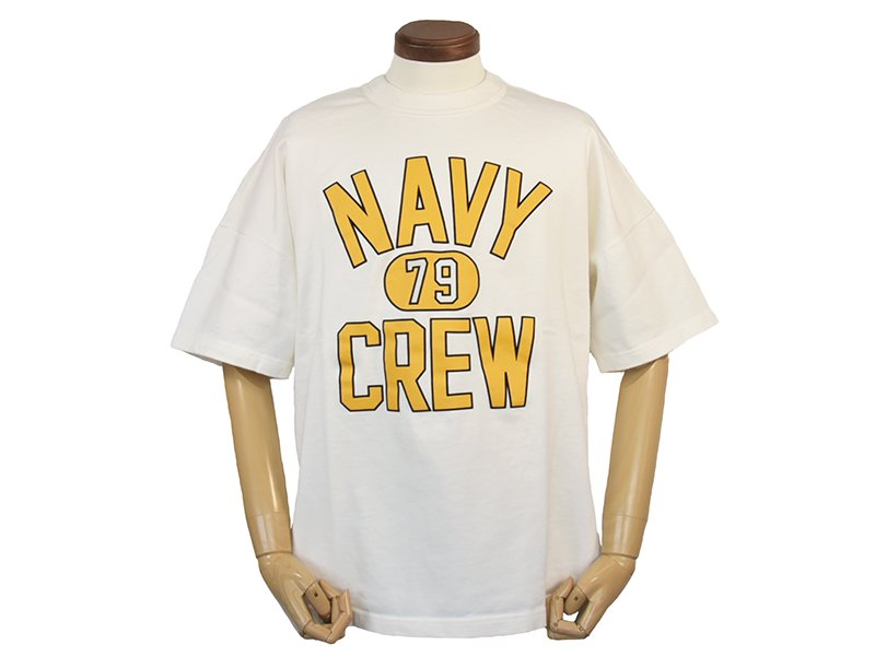 【coochucamp / クーチューキャンプ】Happy Navy Crew T-shirts