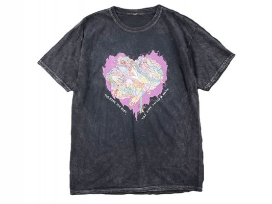 【Varde77】   JUNKIE HEART DYED T-SHIRTS