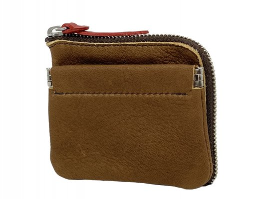 【RE.ACT】Elk Leather L-Fastener Compact Wallet