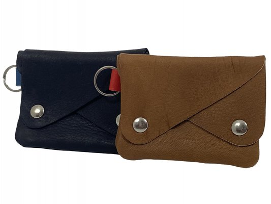 【RE.ACT】 Elk Leather W-Flap Multi Case
