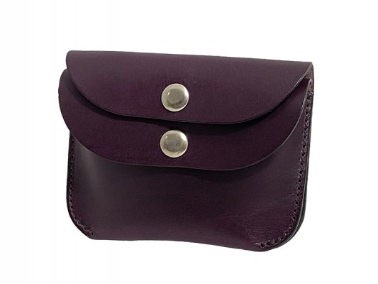 【RE.ACT】 Buttero Leather W-Flap Compact Wallet Purple