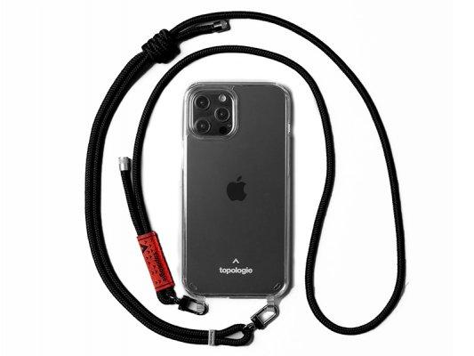 【topologie】 Verdon Phone Case -Clear- (Black Solid)